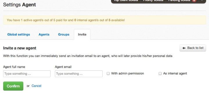 Agent invite