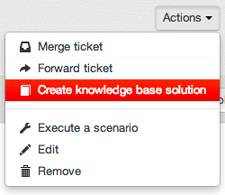 Knowledge Base from ticket