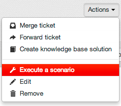Execute scenario button