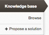 Knowledge base propose