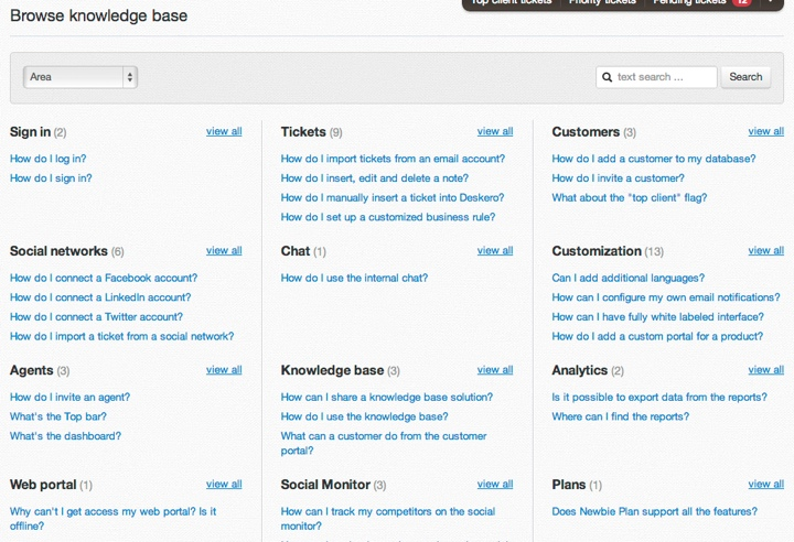 Knowledge base browse