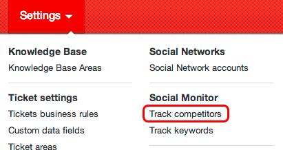 Track competitors