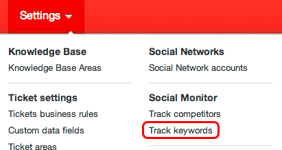 Track keywords